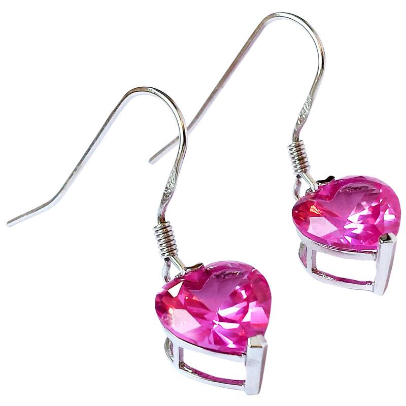 Sapphire drop earrings in silver